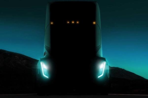 此前特斯拉发布的半挂卡车概念图